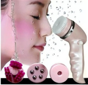 Alice Windowshop Rechargeable Facial Washing Brush with Massage Head Pink