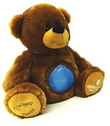 Calm Down Companion - Tranquil Teddy - {Blue} - Plush Stuffed Animal Bear with Glitter Ball to Relax and Soothe Children through Sensory Therapy Methods
