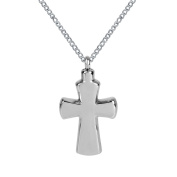 ZARABE Cremation Jewellery Glossy Cross Urn Necklace Memorial Ash Keepsake Pendant