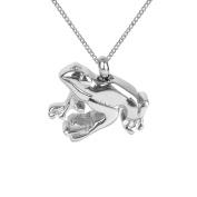 ZARABE Cremation Jewellery Glossy Frog Urn Necklace Memorial Ash Keepsake Pendant
