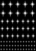 Stars Twinkling 0.6cm - 1.9cm - White 16CC708 Fused Glass Decals