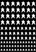 Stars Country 0.6cm - 1.3cm - White 16CC707 Fused Glass Decals