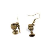 10 Pairs Fashion Jewellery Making Charms Earrings Backs Findings Arts Crafts Hooks Bulk Lots Wholesale Supplier M5QN3 Wineglass Wine Glass