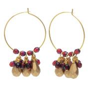 Beaded Hoop Earrings - Gold/Garnet - Exclusive Beadaholique Jewellery Kit
