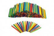 Coloured Wood Craft Sticks - 1000 Pieces