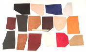 Dangerous Threads Leather Bonanza - Mixed Leather Pieces - Mixed Styles, Sizes, and Colours, 3 Full Pounds!