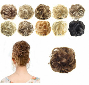 FESHFEN Scrunchy Scrunchie Bun Updo Hairpiece Hair Ribbon Ponytail Extensions Drawstring Hair Extension Dark Brown Scrunchie Hairpiece