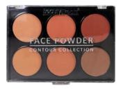 Beauty Treats Six Shade Face Powder Palette - Dark