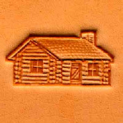 Springfield Leather Company Log Cabin 3D Leather Stamp