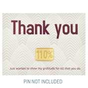 Thank You Gratitude Card - Pack of 25