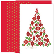 Masterpiece Studios Ornament Tree, 18 Cards/18 Foil Lined Envelopes