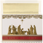 Masterpiece Studios Manger Scene, 16 Cards/16 Foil Lined Envelopes