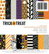 American Crafts 733499 Pebbles Halloween 15cm X 15cm Trick or Treat 36 Sheet Paper Pad