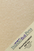 200 Light Brown Parchment 60# Paper Sheets - 14cm X 22cm (14cm X 22cm ) Half Letter | Statement Size - 27kg/pound Text/Copier/Printer Weight - Vintage Coloured Old Parchment Semblance