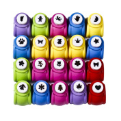 SiCoHome Scrapbooking Punches,10 Pieces,Kid Cut DIY Handmade Paper Hole Punches for Scrapbook