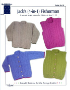 Design by Louise Knitting Pattern #54 Jack's 4-In-1 Fisherman Pullover, Cardigan and Vests Children 1-12