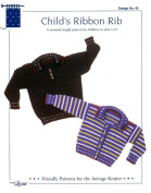 Design by Louise Knitting Pattern #44 Child's Ribbon Rib Cardigan and Pullover For Sizes 1-12