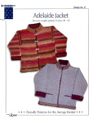 Design by Louise Knitting Pattern #47 Adelaide Jacket, Unisex 34 - 52