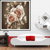 MEXUD-Hot 5D Retro Flower DIY Diamond Painting Cross Stitch Kit Embroidery Home Decoration