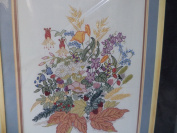 Mixed Floral Stamped Cross Stitch Kit 20358