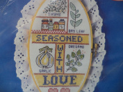 Seasoned With Love Stamped Country Ovals Cross Stitch Kit #3323