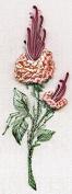 California Rosebud Peach - Edmar kit #1402, Brazilian embroidery KIT, White Fabric