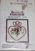Hearts and Roses - Blackberry Lane Brazilian Embroidery kit with EdMar threads #122