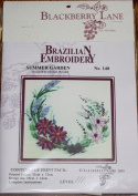 Summer Garden - Blackberry Lane Brazilian Embroidery kit with EdMar threads #140