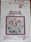 Buds of May - Blackberry Lane Brazilian Embroidery kit with EdMar threads #102