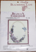 Lavender & Lace - Blackberry Lane Brazilian Embroidery kit with EdMar threads #151