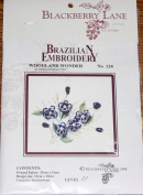 Woodland Wonder - Blackberry Lane Brazilian Embroidery kit with EdMar threads #124