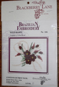 Wild Roses - Blackberry Lane Brazilian Embroidery kit with EdMar threads #146