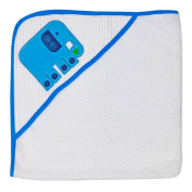 Happy Chic by Jonathan Adler Single Applique, Print Spa Waffle, Woven Terry and Interlock Hooded Towel, Blue Elephant