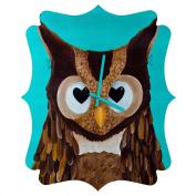 DENY Designs Mandy Hazell Owl Love You Quatrefoil Clock, Small