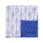 Towin Baby Arrow Minky Double Layer Receiving Blanket/ Pet Dog Blanket , Navy Blue 30x30
