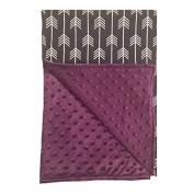 BayB Brand Blanket - Grey Arrow with Purple