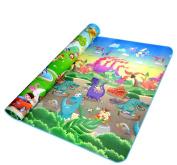 YuHan Baby Crawling Mat Cartoon Baby Flaymat Carpet Baby Gyms 200cm x 180cm Dinosaur