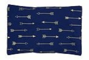 summer & sage Mustard Seed Infant Pillow, medium, arrows, navy