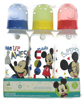"Mickey Mouse ""Little Genius"" 3-Pack Bottles - blue, one size"