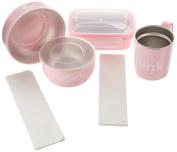 Bento Box, Soup Bowl, Baby Bowl, Kids Cup Feeding Set in Pink
