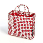 Fruit Print Organic Cotton Tote Bag in Red