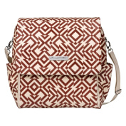 Petunia Pickle Bottom Boxy Backpack Glazed Canvas, Mazes of Milano