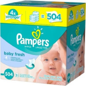 Pampers Baby Fresh Baby Wipes 504 sheets