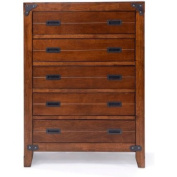 Better Homes and Gardens Kids Union Station 5-Drawer Chest, Rustic Cherry