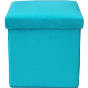 Mainstays Collapsible Storage Ottoman, Multiple Colours / MS56-010-083-10/ Teal Plush