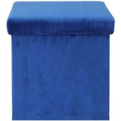 Mainstays Collapsible Storage Ottoman, Multiple Colours / MS56-010-083-10/ Navy Plush