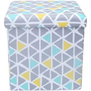 Mainstays Collapsible Storage Ottoman, Multiple Colours / MS56-010-083-10/ Multi Triangle