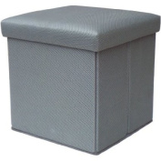 Mainstays Collapsible Storage Ottoman, Multiple Colours / MS56-010-083-10/ Grey