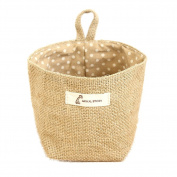 BleuMoo Dot Small Storage Sack Cloth Hanging Non Woven Storage Baskets
