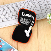 Grandey 1Pc Headphones Earphone Cable Earbuds Storage Hard Case Carrying Pouch bag SD Card Hold box